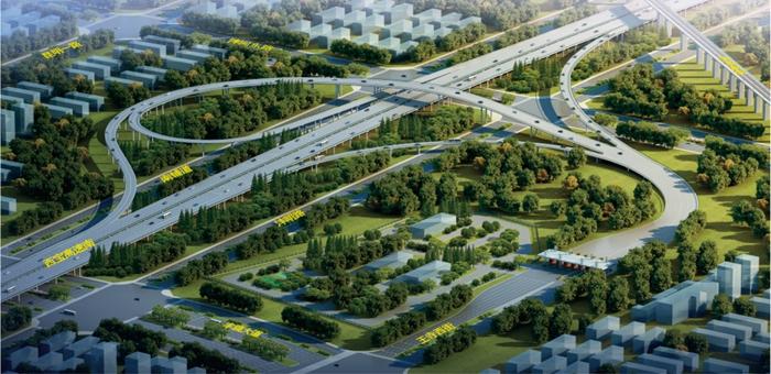 沣东新城沣泾大道与西宝高速南线新增出入口工程